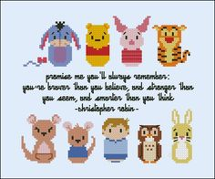 Winnie the Pooh (extended version) - Literature / Books - Mini People - Cross Stitch Patterns - Products