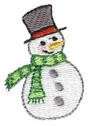 Mini Winter Snowman | Mini Designs | Machine Embroidery Designs | SWAKembroidery.com Bunnycup Embroidery