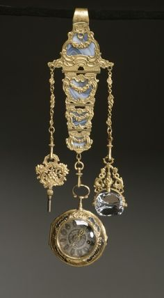 chatelaine with watch, France 18thC