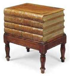 Coffee Table That Looks Like A Stack Of Leatherbound Books