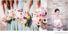 bridesmaids bouquets | Jill Tiongco Photography | Chicago Wedding Photographer