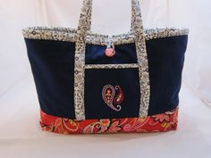 Large Canvas One Of A Kind Tote Bag by StitchNWine on Etsy, $55.00