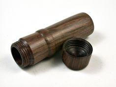 LV-2577 Cocuswood & Partridgewood Slim Box, Toothpick Holder, Needle Case-SCREW CAP