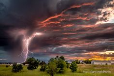 Taken Friday near Commerce City, Colorado. This is hand-held, single frame, Canon 5DMkIII 24-105 F/4L @40mm, 1/30th, f/11, ISO800.  I ran outside to shoot an amazing sunset and just happened to be ready to click when I saw the flash of lightning. This is a one in a million shot, that I don't think I'll ever top. I've got more shots from Friday I look forward to sharing, but none of them as good as this one.  *Color, contrast and clarity tweaked in LR6.