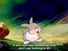 """Exactly, Thumper My mom says,"""" Listen to Thunmper's mom."""" because she said that^"""