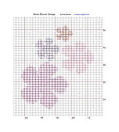 ... Flower Design Chart Pattern for Intarsia Knit pattern by Emily Bieman