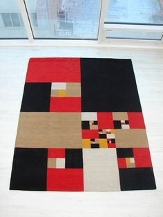 Rug Nine Constant Windows | From a unique collection of more art at https://www.1stdibs.com/art/more-art/