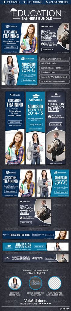 Education Banner Bundle Template PSD | Buy and Download: http://graphicriver.net/item/education-banner-bundle-3-sets/8548368?WT.ac=category_thumb&WT.z_author=doto&ref=ksioks
