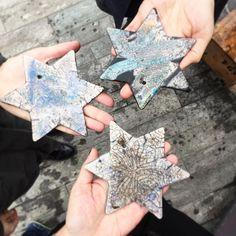 Painting our stars at the zurich weinnachtsmarkt  Such ahellip
