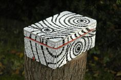 Mosaic box  white and black by Terraluka on Etsy, zł500.00