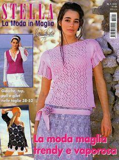 Magazine: Stella №1 2008 (La moda in maglia / Tutto Maglia) - Knit rete, raggi e un gancio - mani creatrici - Editore - linea di vita
