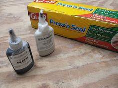 Fused Glass Workshop Tip - Press'n Seal