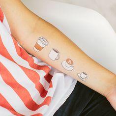 Temporary coffee tattoos