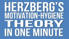 Herzberg's Motivation Hygiene Theory In One Minute