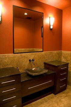 Orange And Brown Bathroom Google Search