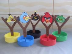 Cumpleaños Angry Birds, Festa Angry Birds, Angry Birds Characters, Bird Birthday Parties, Party Fiesta, Bird Theme, Ideas Para Fiestas, Party Themes, Theme Parties
