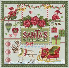 Santa's Village From Madame La Fée - Cross Stitch Charts - Cross Stitch Charts - Casa Cenina