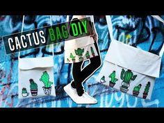 Back to school BAG DIY: Cactus tote bag / Vissza a suliba DIY: Kaktusz táska Back To School Bags, Bago, Diy Videos, Gym Bag, Cactus, Reusable Tote Bags, Internet
