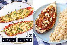 We hebben 6x gevulde groente voor je op een rijtje gezet. Van een gevulde paprika tot gevulde courgette, met de juiste vulling maak je op deze manier een feestje van het eten van groenten.