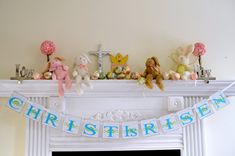 Easter Banner, Easter garland, Christ is Risen -Religious banners, Religious Decorations, Spring banner