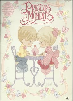 Precious Moments Our Friendship 1995 counted thread Cross Stitch patterns  ...this and more at Sew and Sew booth at Bonanza!