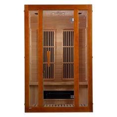 Dynamic Infrared Luxury Series 2 Person FAR Infrared Sauna & Reviews   Wayfair 2 Person Sauna, Canadian Hemlock, Portable Sauna, Barrel Sauna, Traditional Saunas, Steam Sauna, Chromotherapy, Sauna Room