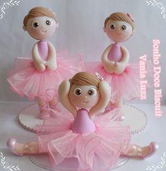 Bailarinas para minha princesa Lívia by Sonho Doce Biscuit *Vania.Luzz*, via Flickr