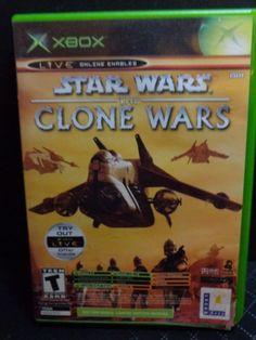 XBOX Star Wars The Clone Wars &  Tetris (2002) Rated T