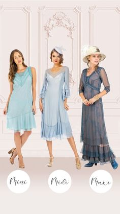 This Vintage Inspired Blue Dresses By Nataya is a celebration of old fashioned elegance. Ladylike design elements and luxurious materials come together to create this stunning style, which features timeless touches like cascading sleeves, a ruffled hemline, and a feminine neckline. Sheer details and embroidered accents at the bustline make this dress even more captivating...