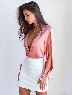 Outfits Rosa de Moda para que luzcas Super Guapa Dressy Outfits, Mode Outfits, Night Outfits, Skirt Outfits, Sexy Outfits, Stylish Outfits, Fall Outfits, Fashion Outfits, Womens Fashion