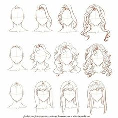 Creative How To Draw Hair Tutorial By: © Nike-93 on DeviantArt  _ Follow @artistiq_help & @universeofartists