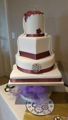 My first half and half cake