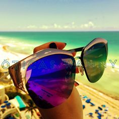 Sol, praia e um Dior Mirrored para acompanhar! #dior #mirrored #sol #espelho #cor #sunglasses #oticaswanny