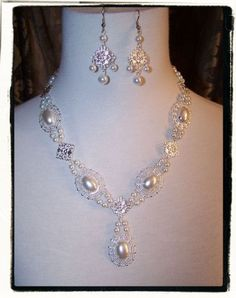 Desire Pearl Tudor Necklace in Silver by RecycledRockstah on Etsy, $30.00