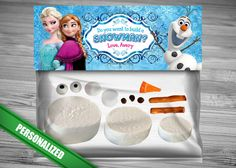 Do You Want to Build a Snowman Frozen Favor Bag Toppers - PERSONALIZED Disney Frozen Birthday Printable for Party Treat Candy Loot Bags Olaf...