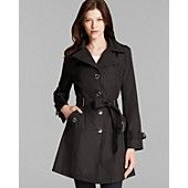 Calvin Klein Trench Coat - Hooded Belted