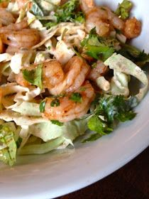 practical paleo: Simple & Delicious: Shrimp Taco Salad