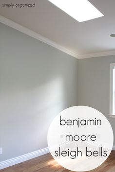 Wall color is Benjamin Moore Sleigh Bells
