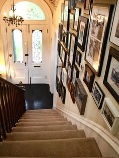Staircase Gallery Wall Design