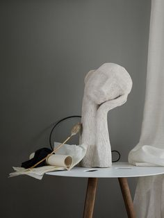 sculpture art clay art on a table Art Sculpture, Pottery Sculpture, Ceramic Sculptures, Stone Sculpture, Keramik Design, Decor Scandinavian, Design Art, Interior Design, Color Interior