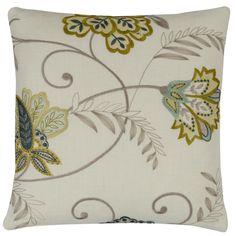 Bukhara Floral Citrus Square Cushion