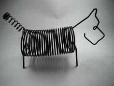 Vintage Scotty Dog Record Holder Black Wire by CapricornOneVintage, $25.00