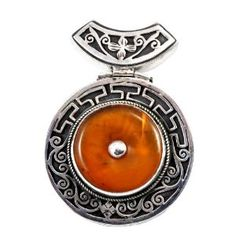 Handmade Sterling Silver Beeswax / Amber Pendant, Prayer Box Pendant, Locket Pendant (Jewelry) http://www.amazon.com/dp/B0079NPNF8/?tag=pindemons-20 B0079NPNF8
