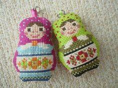 too cute! stitched russian matryoshka