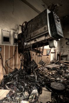 Lost | Forgotten | Abandoned | Displaced | Decayed | Neglected | Discarded | Disrepair | At the abandoned cinema by [AndreasS], via Flickr