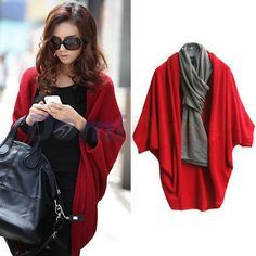 Hot selling women's fashion cashmere blends poncho knitted cardigan winter outerwear sweater shawl cape US $8.89