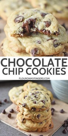 The best recipe for easy chocolate chip. The best recipe for easy chocolate chip cookies from scratch perfectly crispy around the edge while soft and chewy in the middle. Perfect Chocolate Chip Cookies, Butter Chocolate Chip Cookies, Chocolate Cookie Recipes, Peanut Butter Cookie Recipe, Chocolate Chocolate, Healthy Chocolate, Chocolate Desserts, Easy Cheesecake Recipes, Easy Cookie Recipes