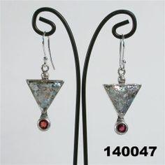 """Roman glass #""""roman glass"""" #jewellery #earrings garnets #bluenoemi 119 USD http://www.bluenoemi-jewelry.com/roman-glass-earrings31.html"""