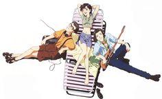 「Neon Genesis Evangelion」(1995-1996) #Evangelion 伊吹マヤ(いぶき マヤ)&日向マコト(ひゅうが マコト)&青葉シゲル(あおば シゲル)