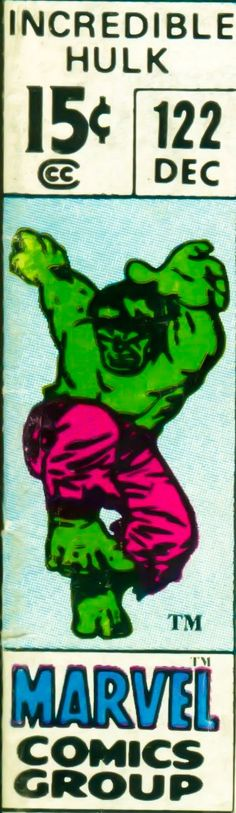 Marvel corner box art - The Hulk